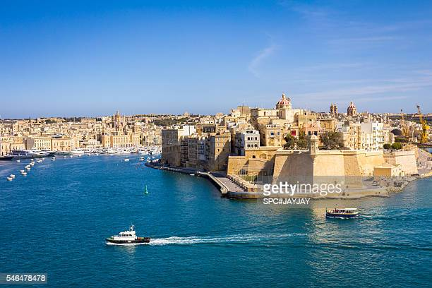 View of Paola City from Valletta Waterfront