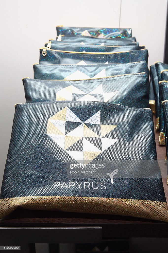 View of Papyrus display at Fall 2016 New York Fashion Week at the Gallery, Skylight at Clarkson Sq on February 13, 2016 in New York City.