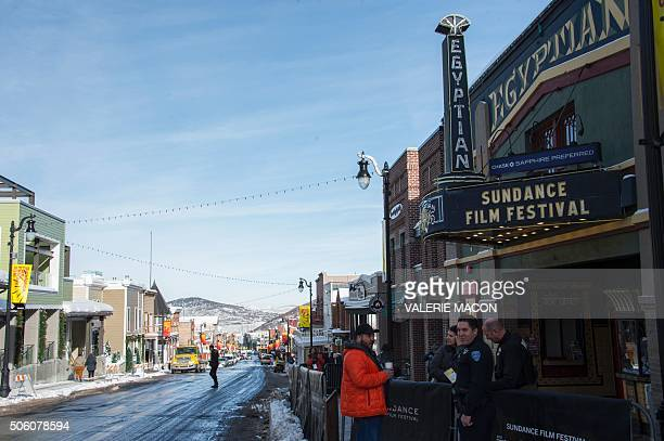 View of Park City and The Egyptian Theater on the first day of the Sundance Film Festival in Park City Utah January 21 2016 / AFP / Valerie MACON