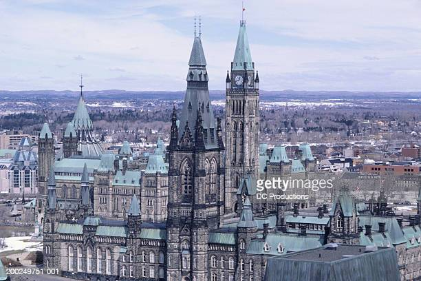 View of Parliament, high viewpoint, Ottawa, Canada