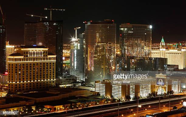 A view of part of the Bellagio and the CityCenter project under construction on the Las Vegas Strip seen from the Voodoo Lounge at the Rio Hotel...