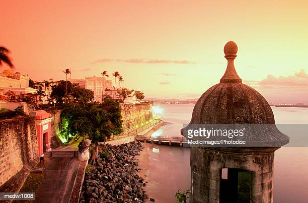View of Paseo de la Princesa at sunset in San Juan, Puerto Rico