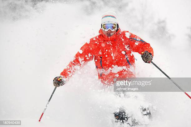View of person skiing