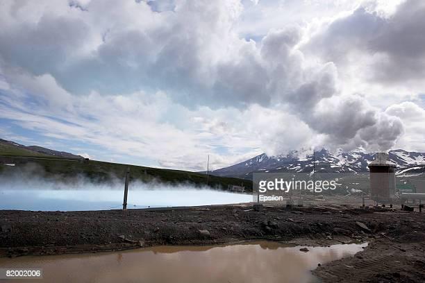 View of PetropavlovskKamchatskyAugust 19 2007 in Kamchatka Russia Kamchatka has the highest density of volcanos and associated volcanic phenomena in...