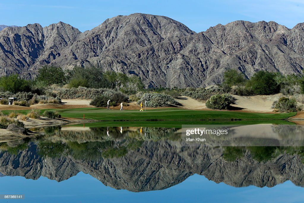 NOVEMBER 24 2014 A view of PGA West 's Greg Norman Golf Course in La Quinta PGA West is working on conserving water through landscaping and...