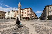 View of Piazza (square) Tre Martiri
