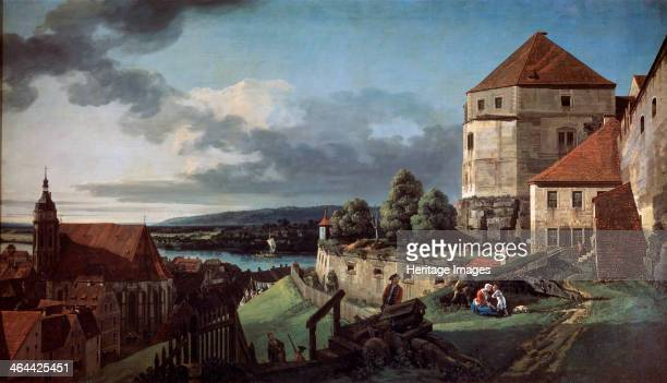 'View of Pirna from the Sonnenstein Fortress' c1752c1755 Pirna is a town near Dresden Saxony Germany Found in the collection of the State A Pushkin...