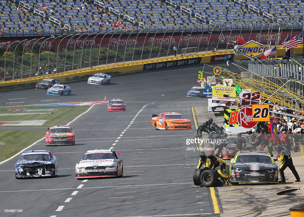 A view of pit road during the NASCAR XFINITY Series Hisense 300 at Charlotte Motor Speedway on May 28, 2016 in Charlotte, North Carolina.
