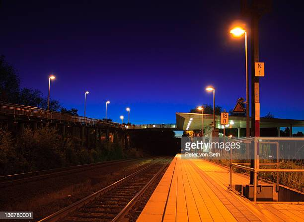 View of Platform at night