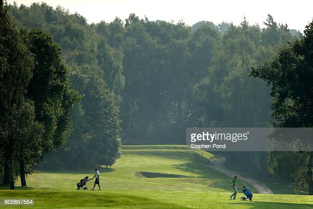 A view of players on a fairway during the PGA ProCaptain East Qualifier at King's Lynn Golf Club on September 15 2016 in King's Lynn England