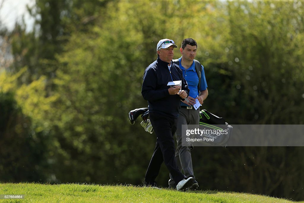 A view of players on the course during the PGA Professional Championship East Qualifier at Gog Magog Golf Club on May 3, 2016 in Cambridge, England.