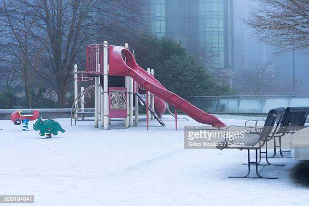 View Of Playground In Winter