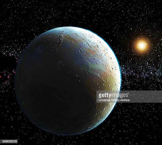 View of Pluto artist's impression based on 2015 NASA image