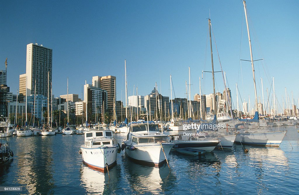 View of Point Yacht Club, Durban, KwaZulu-Natal Province, South Africa
