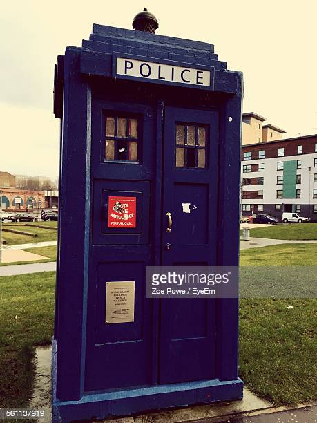 View Of Police Call Box