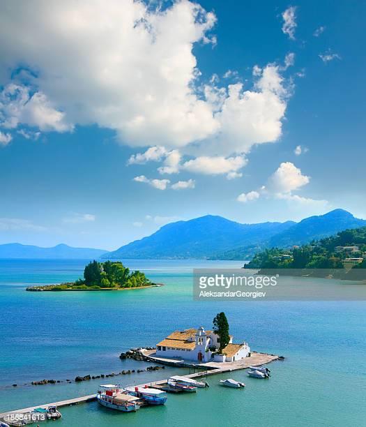 View of Pontikonisi area at Corfu island, Greece