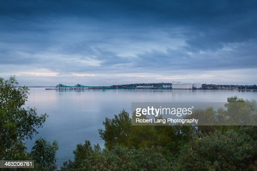 View of Port Lincoln foreshore in South Australia