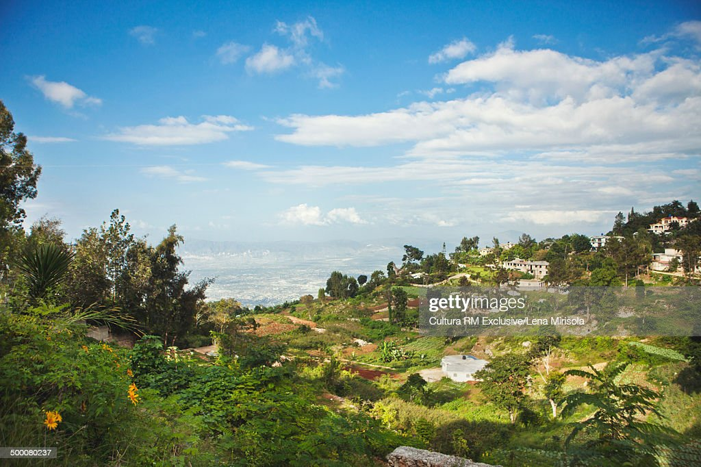 View of Port-au-Prince, Haiti from Fermaithe countryside