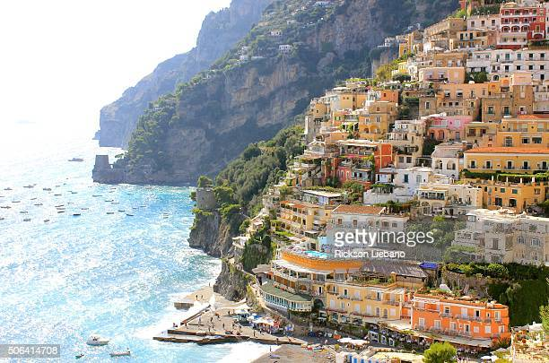 View of Positano in the morning