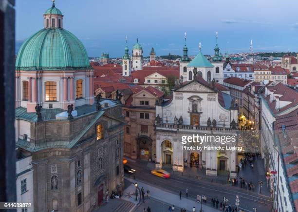 View of Prague at dusk
