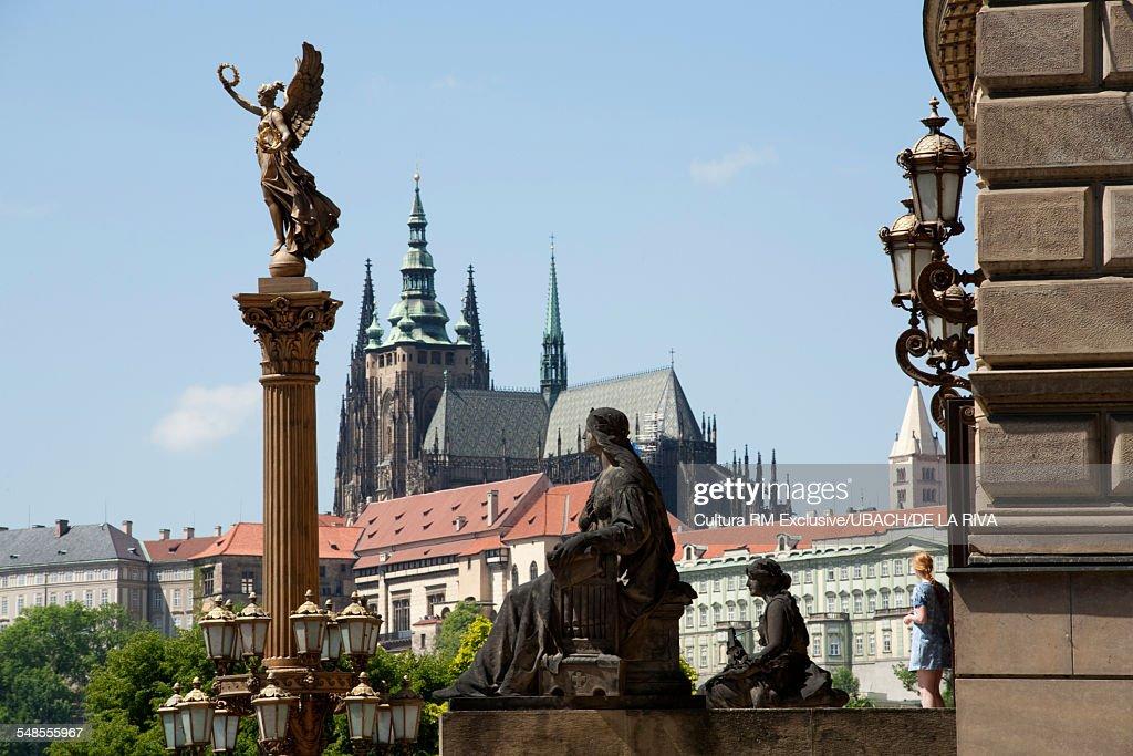 View of Prague Castle and Saint Vitus Cathedral, Prague, Czech Republic