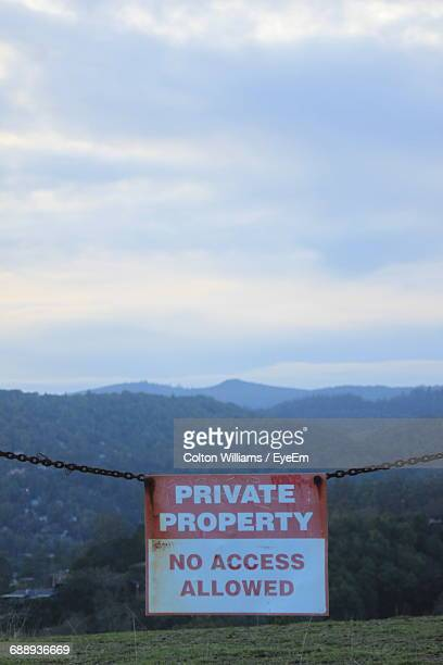 View Of Private Property Against Clear Sky