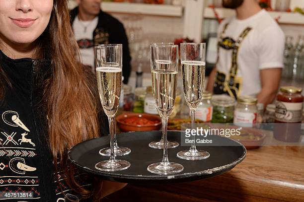 A view of Prosecco at The New York Times Presents American Harvest Organic Vodka's Greenmarket Brunch Hosted By Geoffrey Zakarian during Food Network...