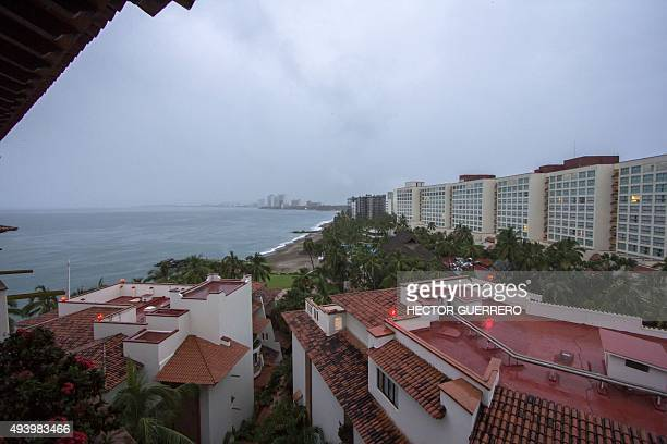 View of Puerto Vallarta Mexico on October 23 during hurricane Patricia Monster Hurricane Patricia roared toward Mexico's Pacific coast on Friday...