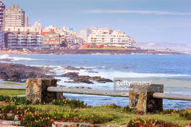 View of Punta del Este coast and skyline, Uruguay