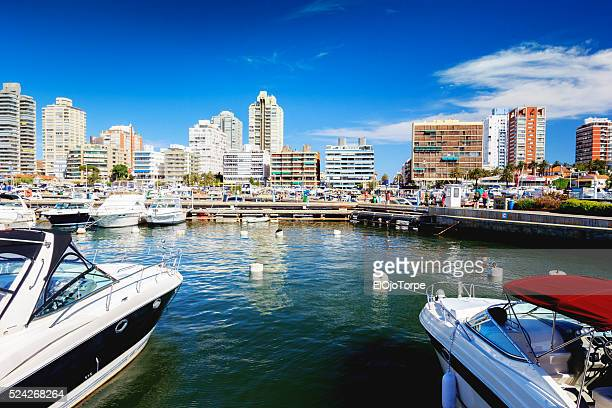 View of Punta del Este harbor, Uruguay