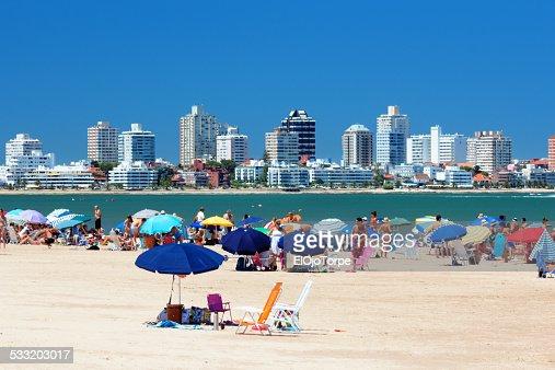 View of Punta del Este's beach