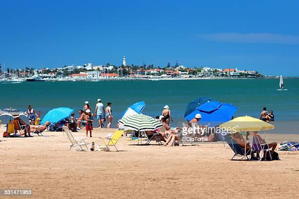 View of Punta del Este's beach, Uruguay, 2014.