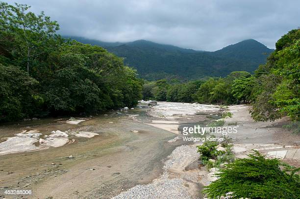 View of Quebrada Concha River near Tayrona National Park Santa Marta Colombia