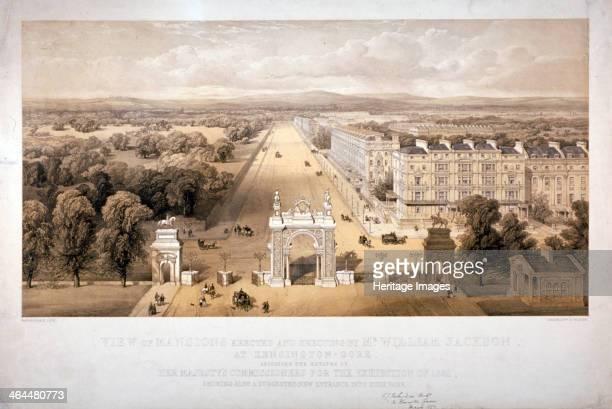 View of Queen's Gate Hyde Park Kensington London 1857