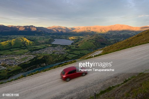 view of Queenstown city : Stock Photo