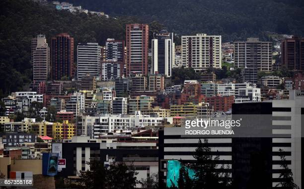 View of Quito taken on March 24 2017 The collapse of the real estate market in Ecuador is not the cause of the battered economic situation in the...