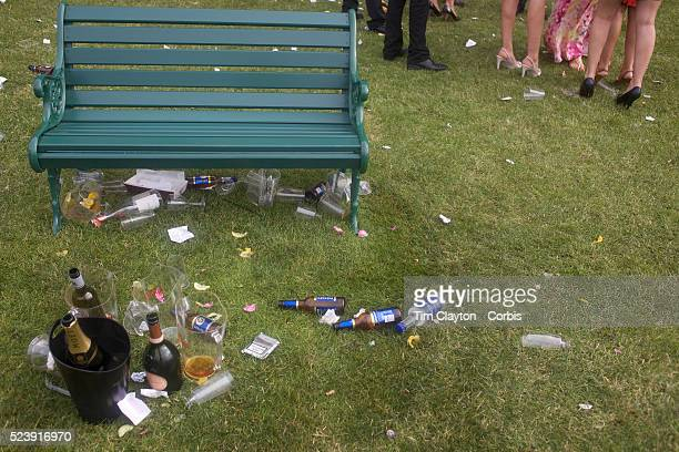 A view of racegoer's high heels amid a trash littered lawn at the Royal Ascot After over a decade of Labour Government in Great Britain the gap...