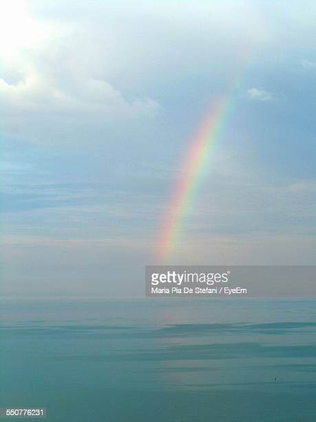 View Of Rainbow Over Sea
