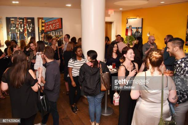 A view of reception guests attend Vulture Hulu's screening of 'Difficult People' on August 7 2017 in New York City