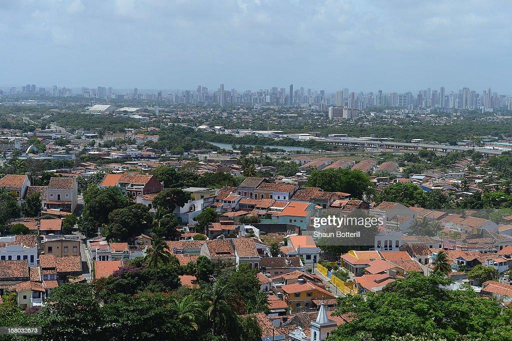 View of Recife on December 9, 2012 in Olinda, Brazil.