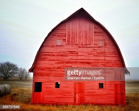 View Of Red Barn