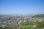View of residential area, Tama city, Tokyo prefecture, Japan