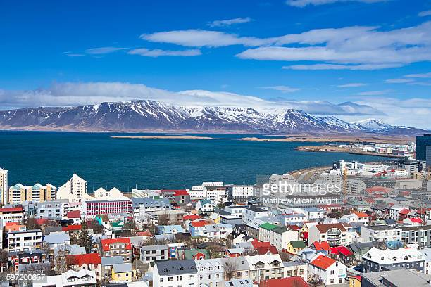 A view of Reykjavik's colorful city center