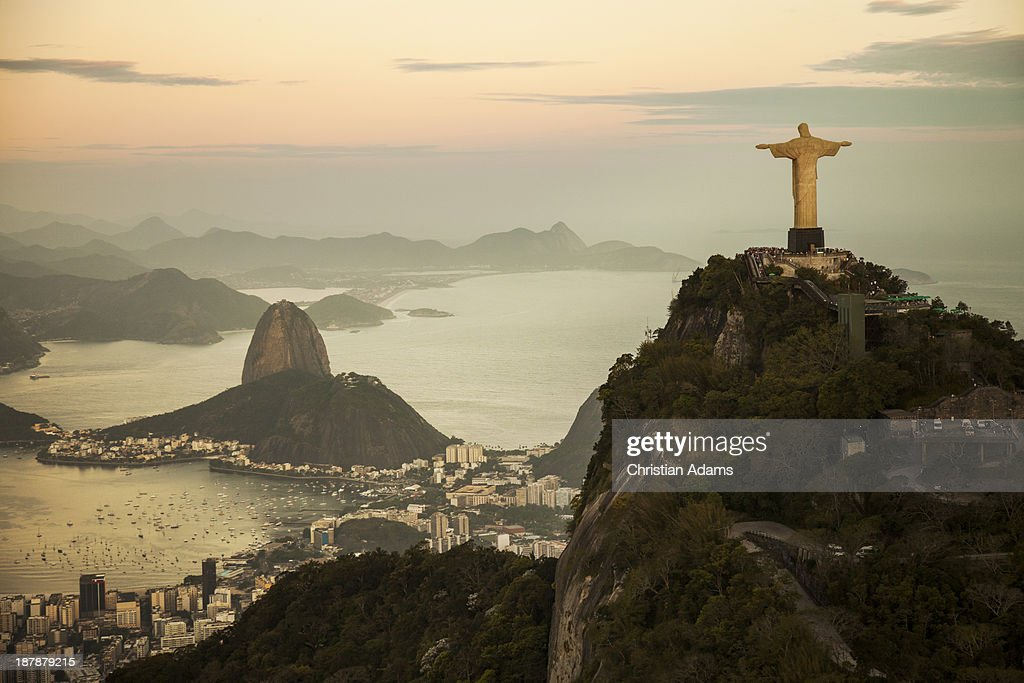 View of Rio de Janeiro at dusk
