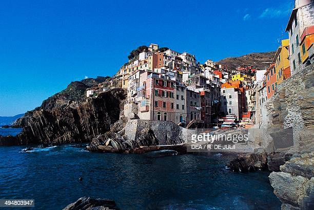 View of Riomaggiore Cinque Terre Liguria Italy