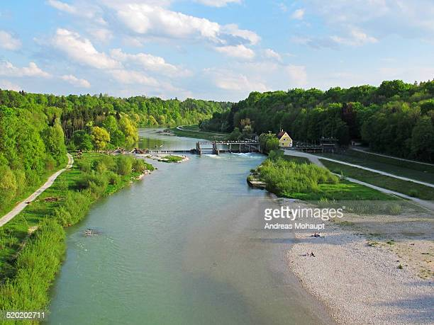 View of River Isar in summer