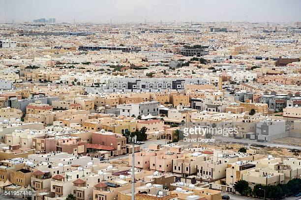 A view of Riyadh from above near The King Abdullah Financial District on April 13 2016 in Riyadh Saudi Arabia