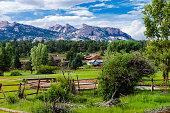 scenic view of the mountain sorrounding estes park, colorado. U.S.A.