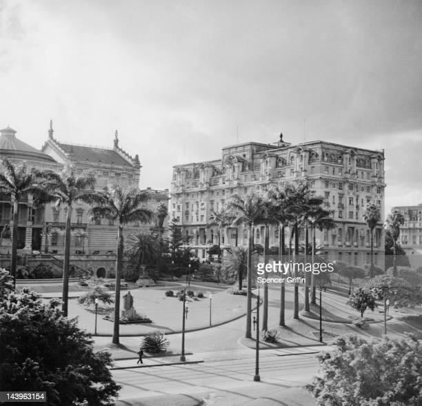 A view of Rodrigues Alves Gardens Sao Paulo Brazil circa 1955