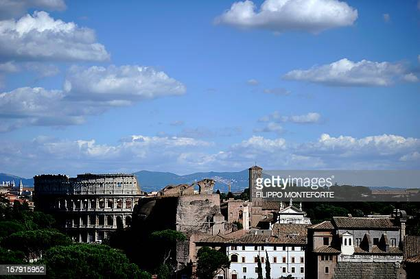 A view of Rome's ancient Flavian Amphitheatre also known as the Colosseum is seen in central Rome on July 31 2010 Rome's municipality approved their...